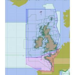 Britische Inseln und Frankreich Atlantic
